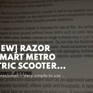 "Honest review: Razor EcoSmart Metro Electric Scooter – Padded Seat, Wide Bamboo Deck, 16"" Air-F..."