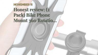 Best reviewed: (2 Pack) Bike Phone Mount 360 Rotation, Phone Mount Bike Accessories Bicycle Mot...