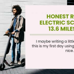 "Top rated: Electric Scooter 13.6 Miles Long Range Battery, Up to 15.5 MPH, 8"" Tires, Portable a..."