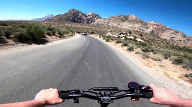 Cruising the Redrock Canyon Loop in Las Vegas on my Kaabo Mantis