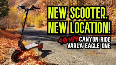 My New Favorite Place to Ride! Varla Eagle One Electric Scooter \\ Rides with RK9
