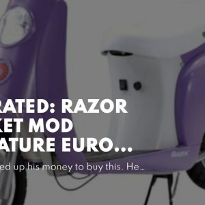Honest review: Razor Pocket Mod Miniature Euro Electric Scooter - Vapor