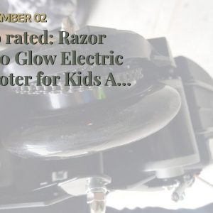 "[Review] Razor E100 Glow Electric Scooter for Kids Age 8+, LED Light-Up Deck, 8"" Air-filled Fro..."