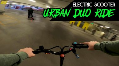 Urban Duo Ride on the Kaabo Mantis and Varla Eagle One || Rides With RK9
