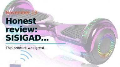 "Top rated: SISIGAD Hoverboard, 6.5"" Two-Wheel Self Balancing Hoverboard, Smart Hover Board for..."