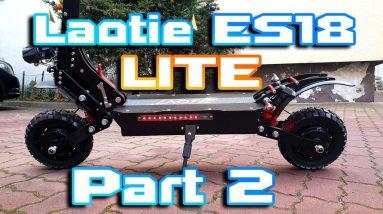 """Laotie ES18 LITE 🛴 Great Suspension & working range 40km+ ⚡ Part 2 """" Speed & power test """"🚀"""