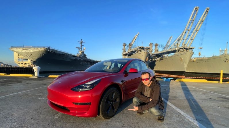 Tesla Model 3 Electric Car Review | My First Electric Car, San Francisco Drive Footage | 2021 Model