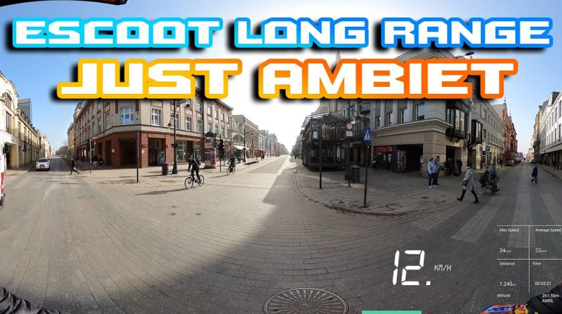 Laotie Ti30 🛴 FULL Long Range 🌆🌄 Just Ambient Sound  for 90 min 🐱‍🏍Ultra Wide 21:9 🍕 Poland Łódź 🍻