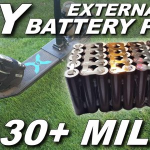 Build Your Own External Battery Pack [30+MILES RANGE!!!]