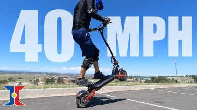 Is it TOO FAST?! Turbowheel Lightning E- Scooter Review