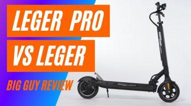 Speedway Leger vs Speedway Leger Pro Electric Scooter Comparison - Big Guy Review - Filmed in 4K