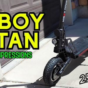 New 25 MPH Scooter! Hiboy Titan First Impressions