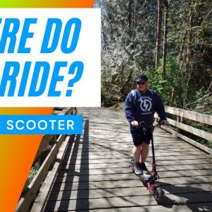 Where do you ride your electric scooter?