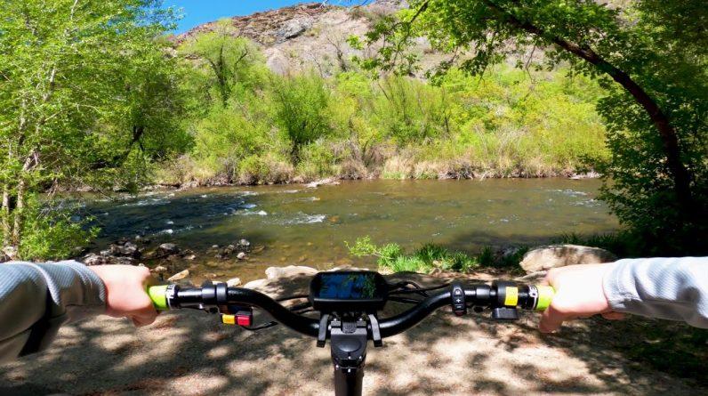 Beautiful FPV Canyon Trail Ride // Hiboy Titan Electric Scooter