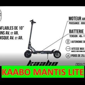 UNBOXING KAABO MANTIS Lite Trottinette électrique - Toutes les caractéristiques en quelques minutes