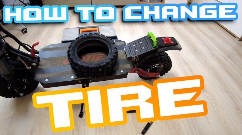 How to change tubeless tire in Electric scooter ⚒ Chinese Boyueda and Ti30 Example 🍕🍻