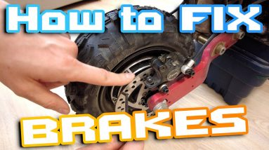 How to Fix Brakes in Electric Scooter Ebike 🛠 Change Brake Pads 🛴 Fix Bent Brake Disc 🛸🚀🍕🍻