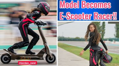 How International Model Jordan Rand became a Future Electric Scooter Racing Star