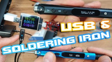 TS100 & SEQURE SQ-001 BEST Soldering Iron 🚀 USB Charger + Trigger = power supply ⚒ How to 🍕🍻