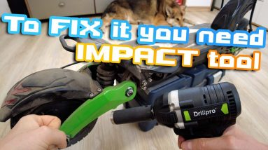 To Fix Xtron X08 you need impact tool 😑  How to change tube and Grease Swing arm suspesnion system