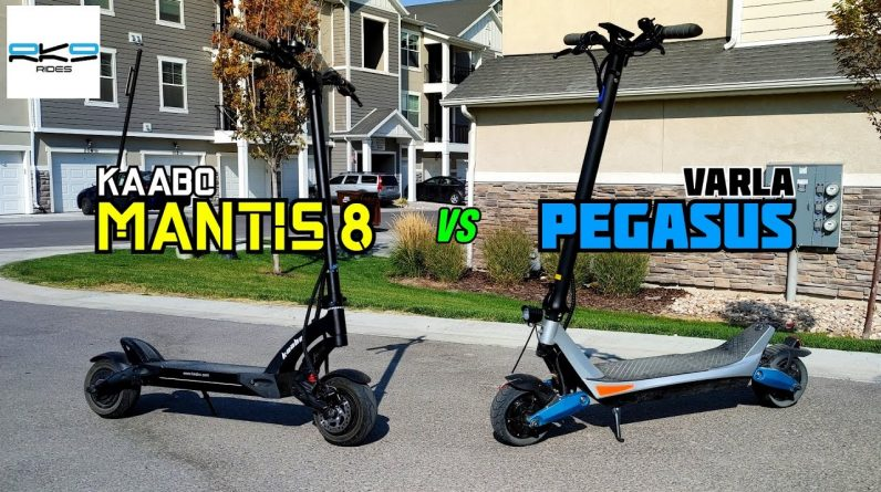 Kaabo Mantis 8 vs Varla Pegasus: Which ~$1000 Scooter is Better?