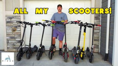 Scooter Check! Looking At All My Electric Scooters + Garage Tour