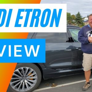 Audio E-tron Electric Car Review  - 4K  - Tim's First Time Driving an Electric Car
