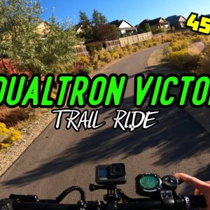 High-Speed Cruising My Local Trails on the Dualtron Victor Electric Scooter!
