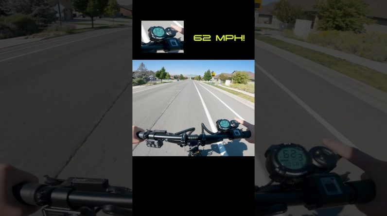What It's Like to Go 60 MPH on an Electric Scooter #Shorts